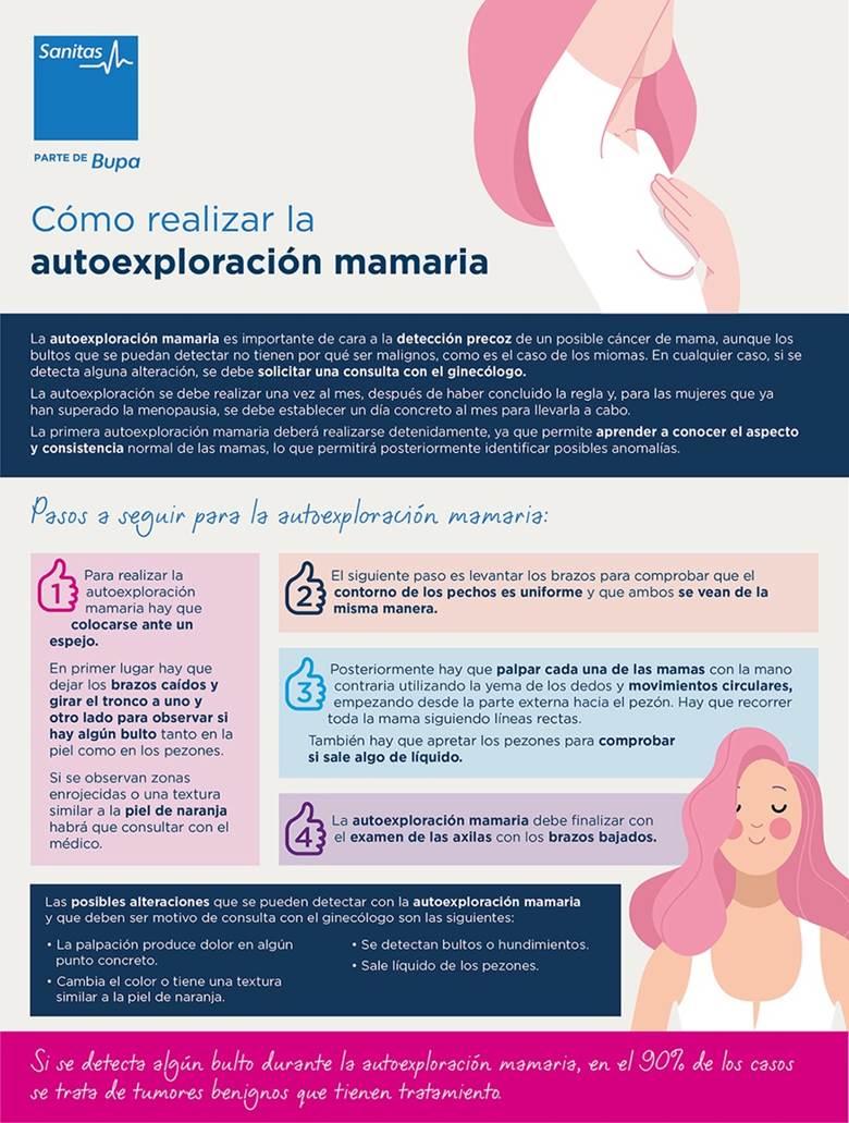 Como realizar autoexploración mamaria