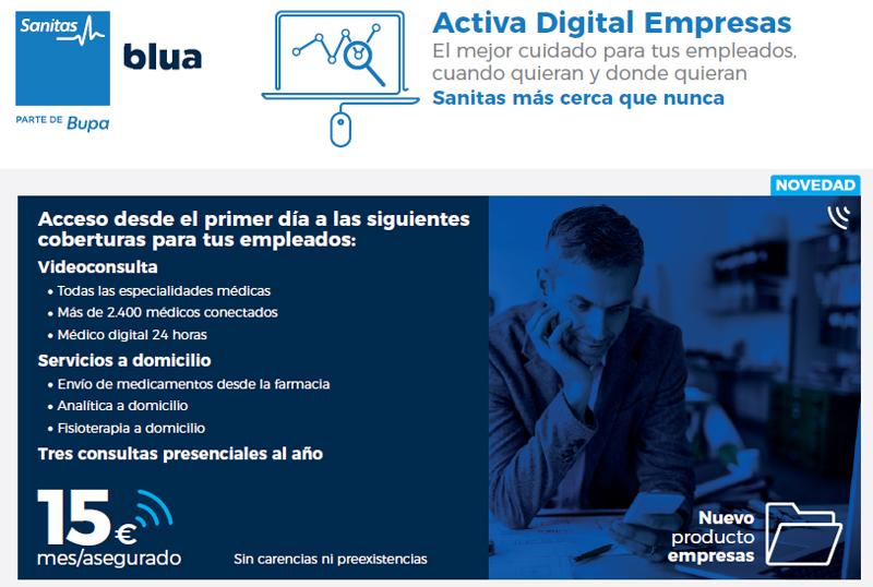 Seguro para empleados - Sanitas Activa digital