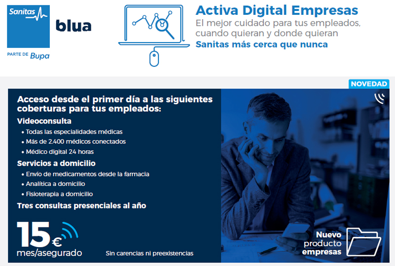 Sanitas seguro Activa Digital Empresas