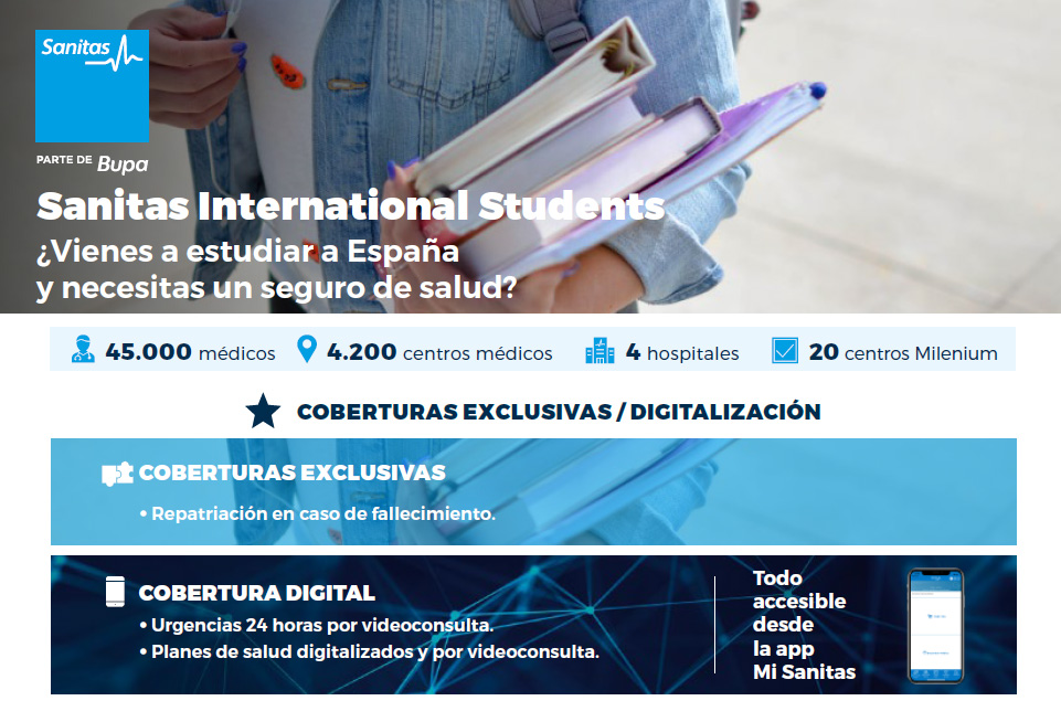 Seguro médico para estudiantes extranjeros en España - Sanitas International Students