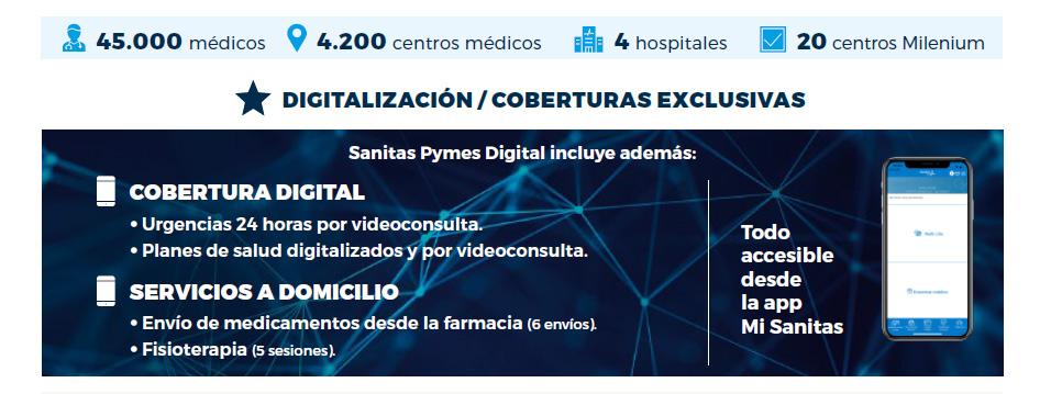 Seguro para PYMES y empresas - Seguro Sanitas Pymes digital
